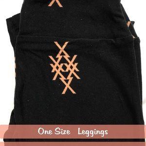 LuLaRoe Black Tan Leggings
